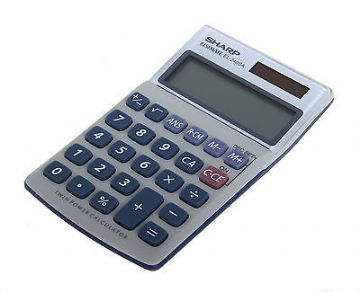 CALCULATOR HAND-HELD / DESK TOP EL240SAB  8 DIGIT by SHARP